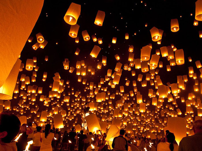 Lanterne cinesi volanti