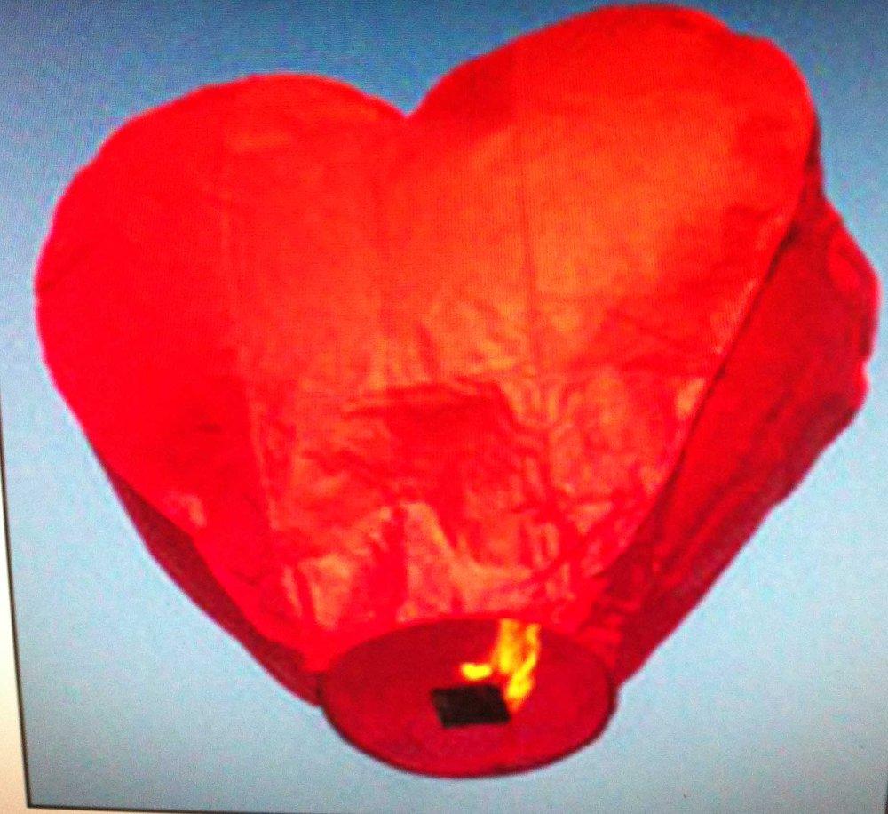 lanterne volanti cuore