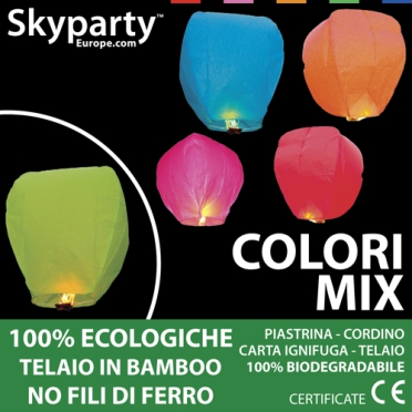 Lanterne Volanti colori assortiti Mix Pack