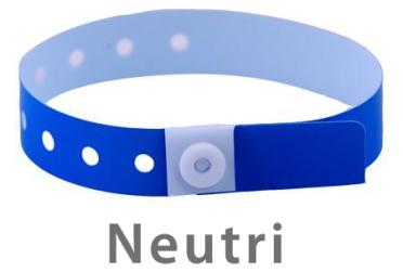 Braccialetti identificativi Vinyle neutri