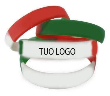 Braccialetti silicone Tricolore